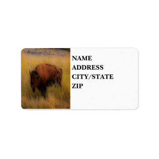 'Southwest Buffalo of the Prarie' Label
