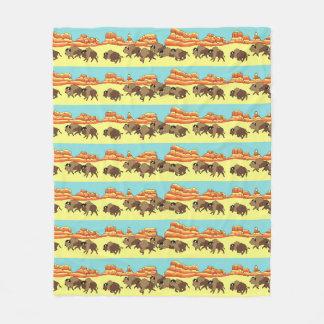 Southwest Buffalo Stripe Fleece Blanket