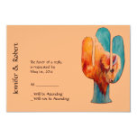 Southwest Cactus and Buffalo Response 3.5x5 Paper Invitation Card