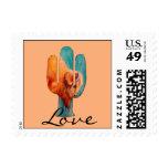 Southwest Cactus and Buffalo Stamp