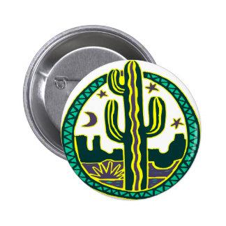 Southwest Cactus Pinback Button