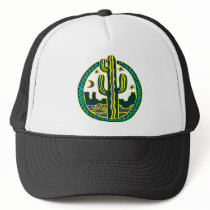 Southwest Cactus Trucker Hat