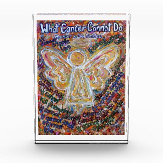 Southwest Cancer Angel Custom Paperweight Acrylic Award