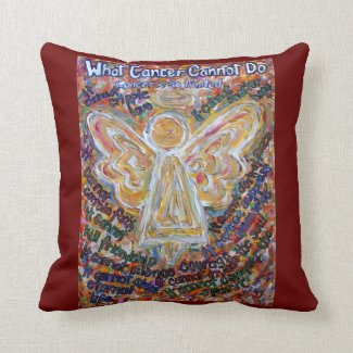 Southwest Cancer Angel Decorative Throw Pillow