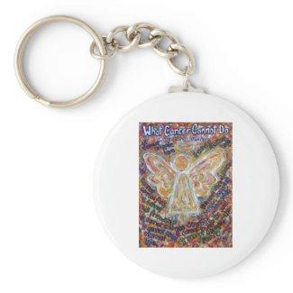 Southwest Cancer Angel keychain