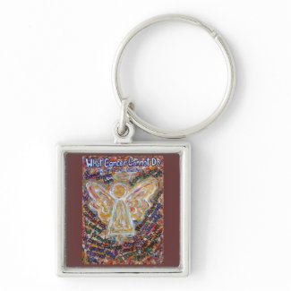 Southwest Cancer Cannot Angel Art Keychain Pendant keychain