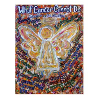 Southwest Cancer Cannot Do Angel Postcards or Card
