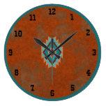 Southwest Canyons Geometric Mesa Old West Large Clock