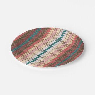 Southwest Chevron Zigzag Paper Plate