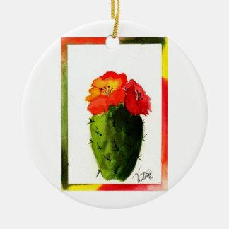 Southwest Christmas Ceramic Ornament