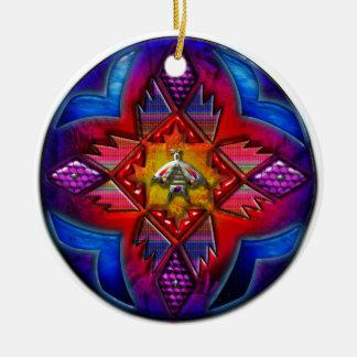 Southwest Circle Art Double-Sided Ceramic Round Christmas Ornament