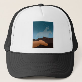 Southwest Cowboy Silhouette Trucker Hat