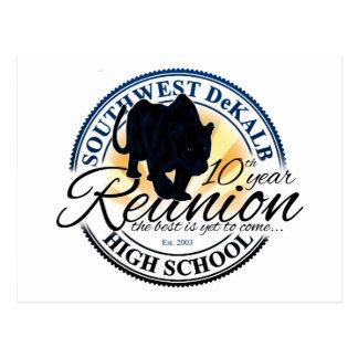 Southwest Dekalb High School Class 10 Year Reunion Postcard
