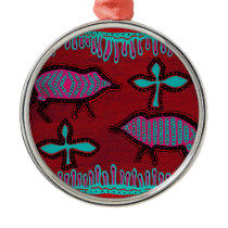 Southwest Desert Animals Metal Ornament