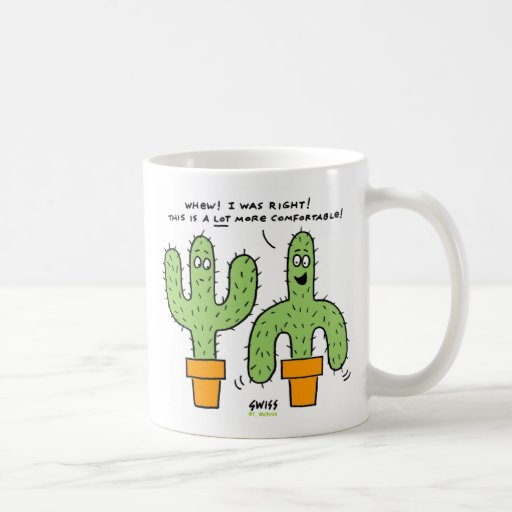Southwest Desert Cactus Cartoon Funny Mug