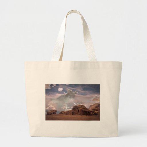 Southwest Desert Lightning Storm Landscape Bags