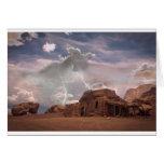 Southwest Desert Lightning Storm Landscape Greeting Cards