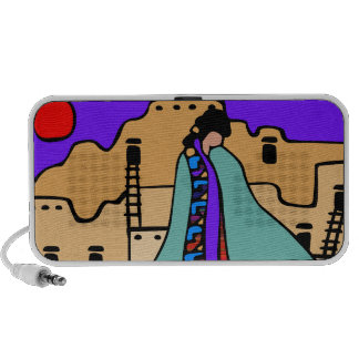 Southwest Desert Scene - Custom Doodle Speakers