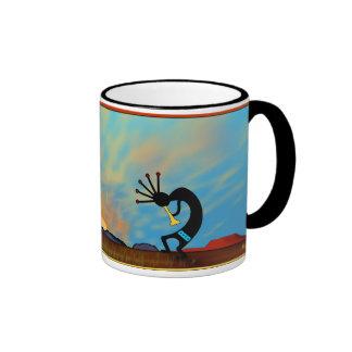 Southwest Desert Sunset Ringer Coffee Mug