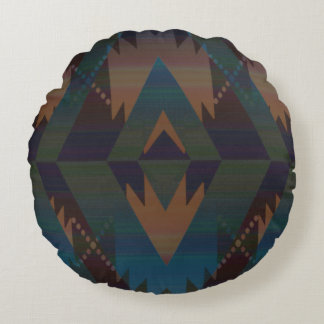 Southwest Design Aztec Pattern Round Pillow