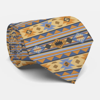 Southwest Design Blue Gray Monogram Tie