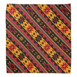 Southwest Design Bold Red Black Gold Bandana