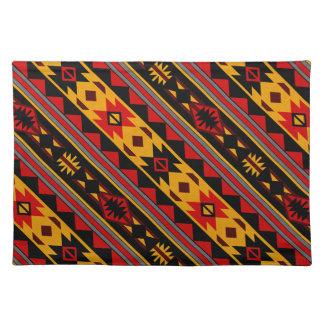 Southwest Design Bold Red Black Gold Placemat