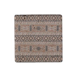 Southwest Design Brown Aztec Pattern Stone Magnet