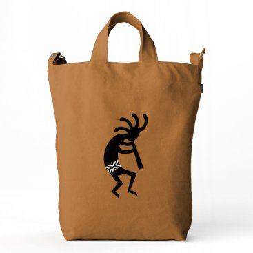 Aztec Themed Southwest Design Dancing Kokopelli  Bag