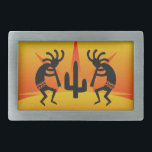 "Southwest Design Dancing Kokopelli Belt Buckle<br><div class=""desc"">Dancing Kokopelli southwerst design. For more southwest Kokopelli gifts visit the rest of this shop!</div>"