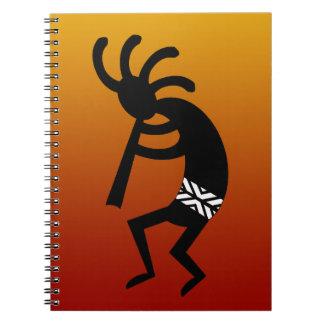 Southwest Design Dancing Kokopelli Spiral Notebook