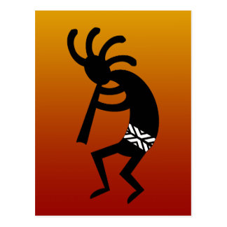 Southwest Design Dancing Kokopelli Postcard