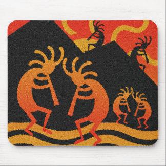 Southwest Design Desert Sunset Kokopelli Mouse Pad