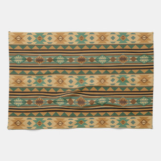 Southwest Design Green Brown Tan Towel