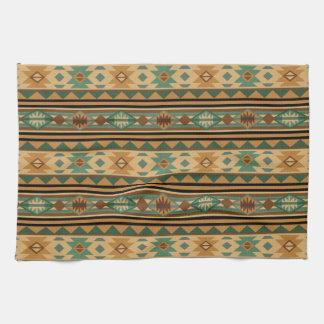 Southwest Design Green Brown Tan Towels