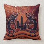 Southwest Design Kokopelli Desert Sun Cactus Pillows