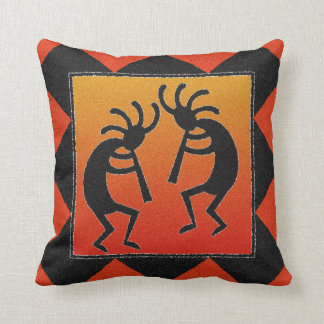Southwest Design Kokopelli Throw Pillow
