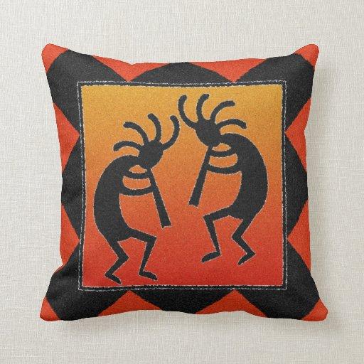 Southwest Design Kokopelli Throw Pillow Zazzle