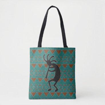 Aztec Themed Southwest Design Kokopelli Tribal Tote Bag