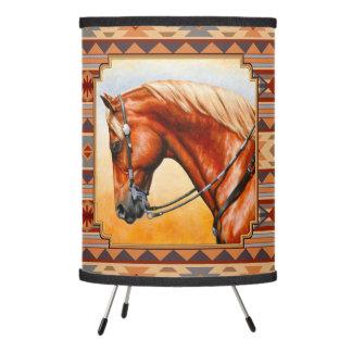 Southwest Design Quarter Horse Tripod Lamp