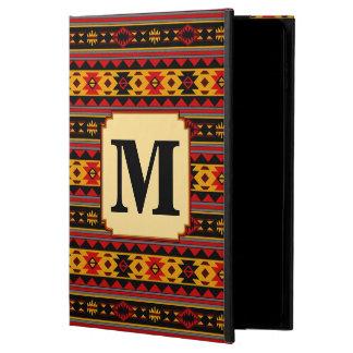 Southwest Design Red Black Gold Monogram Powis iPad Air 2 Case