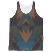 Southwest Design Tribal Aztec Pattern Tank Top