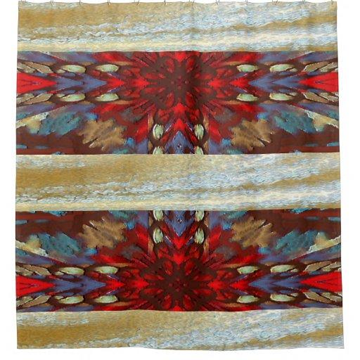 southwest earth cross design art shower curtain | Zazzle