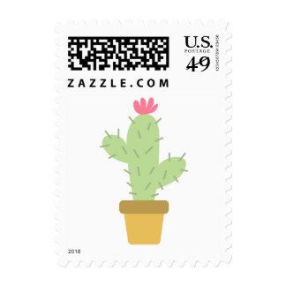 Southwest Floral Green Cactus Flower - Succulent Postage
