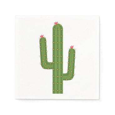 merrybrides Southwest Floral Green Cactus Pink Flower Wedding Paper Napkin