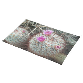 Southwest Flowering Cactus Photograph Cacti Desert Placemats