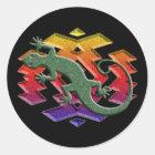 Southwest Gecko Dark Stickers