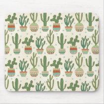 Southwest Geo Step | Cactus Pattern Mouse Pad