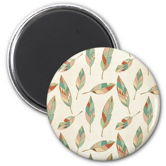 Southwest Geo Step | Geometric Feather Pattern Magnet