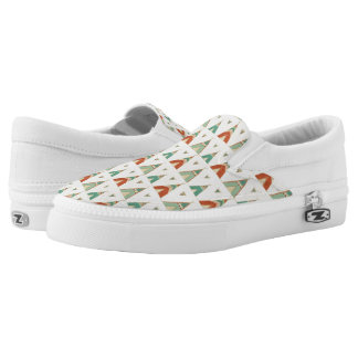 Southwest Geo Step | Geometric Teepee Pattern Slip-On Sneakers